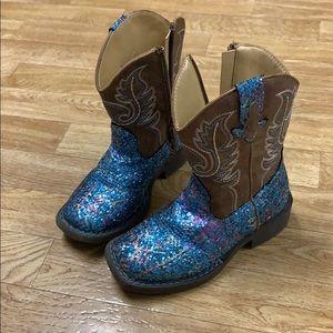 Toddler sz8 Roper glitter boots